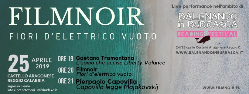 Filmnoir live balenando in burrasca